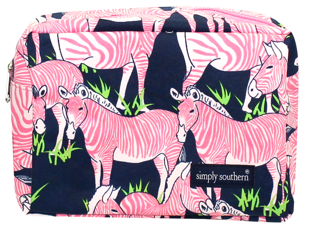 Simply Southern Zebra Cosmetic Bag