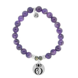 T. Jazelle Amethyst Parkinsons Awareness Bracelet