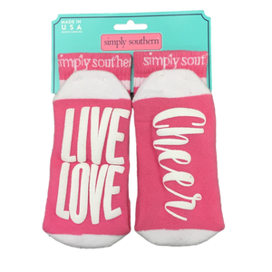 Simply Southern Live Love Cheer Socks