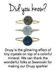 Druzy Bangle card Luca + Danni