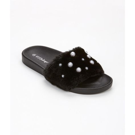 PJ Salvage Pearl Faux Fur Slipper