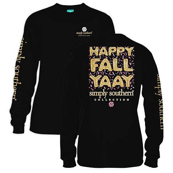 Simply Southern Happy Fall Long Sleeve T-Shirt