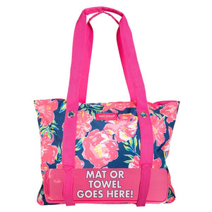 Simply Southern Hibiscus Beach Bag