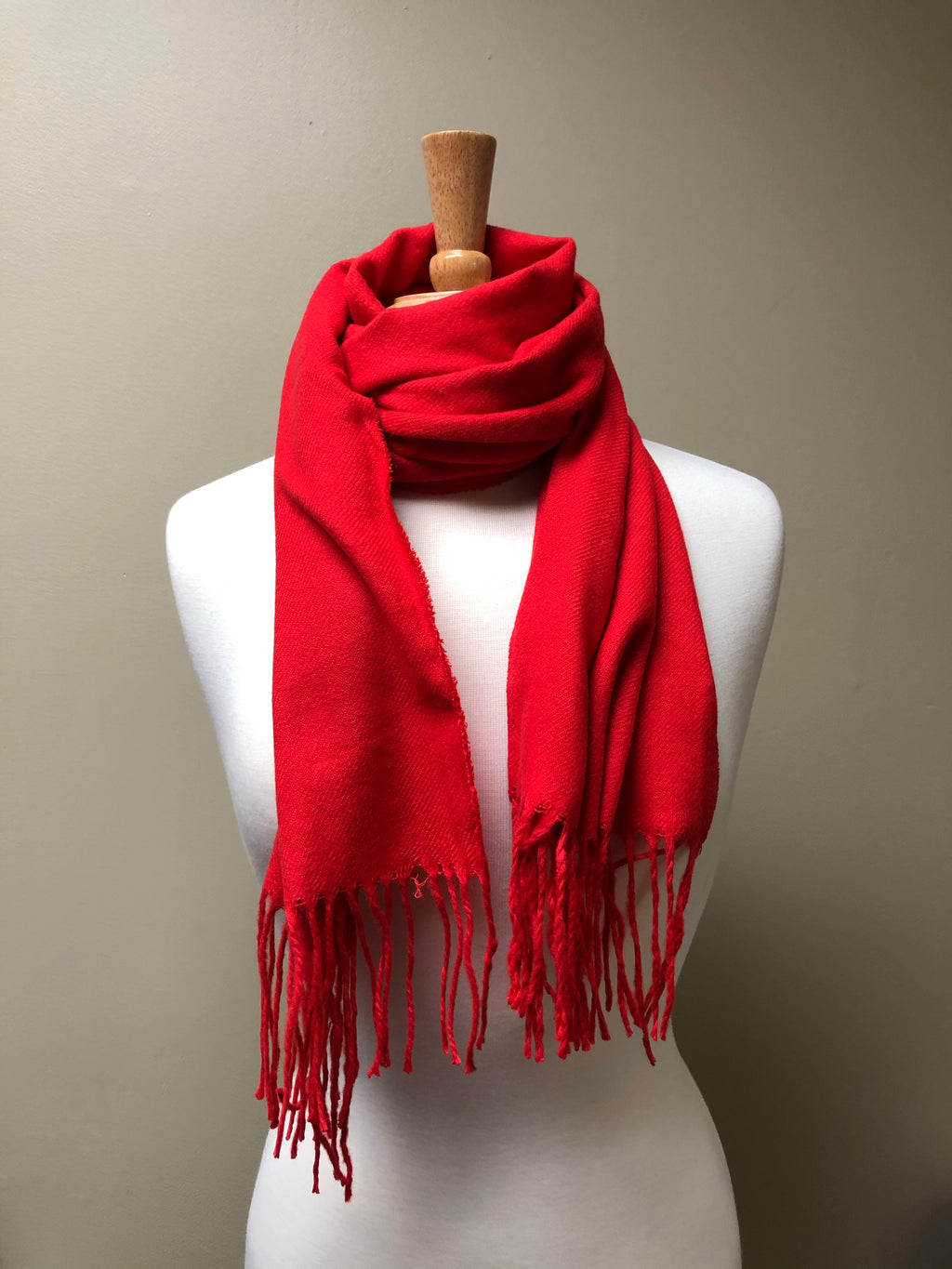Red Fringe Scarf