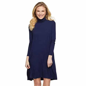 Mudpie Topher Turtle Neck Dress Navy