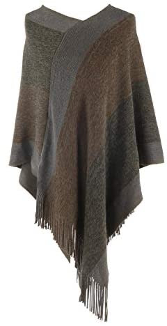 Jack and Missy Knit Poncho-Bronze