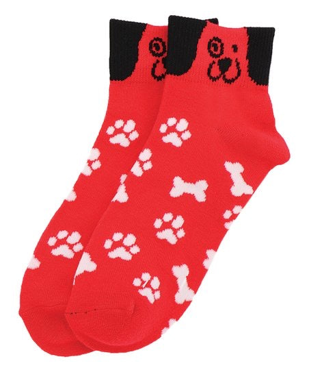 Red Dog Face Socks
