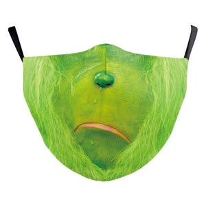 Grinch Face Mask