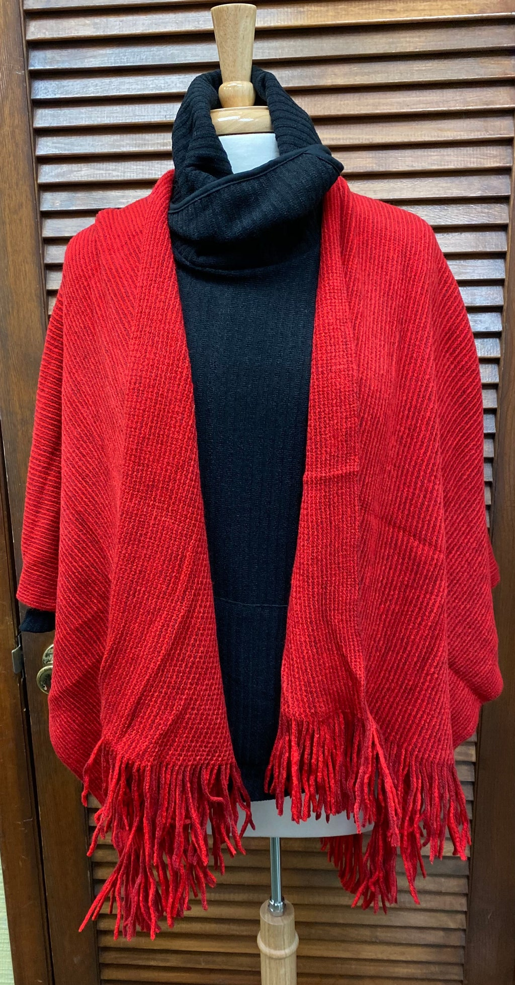 Fringe Wrap Red