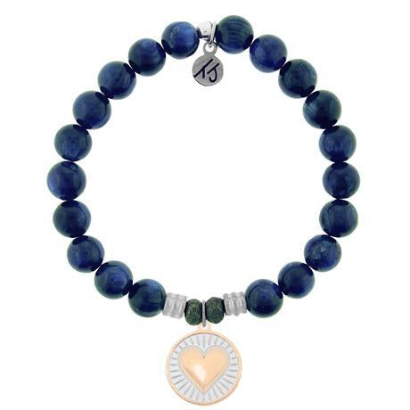 T. Jazelle Kyanite Heart of Gold Bracelet