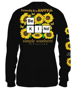 Simply Southern Black Be Kind Long Sleeve T-Shirt