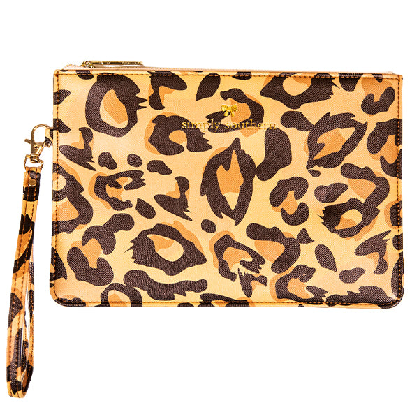 Simply Southern Leopard Leather Clutch