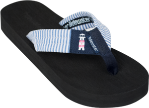 Tidewater Lighthouse Stripes Flip Flops