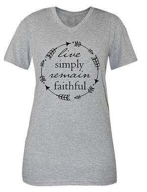 Simply Faithful Live Simply T-shirt