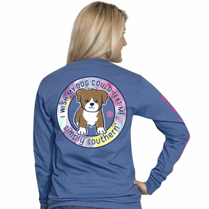Simply Southern Preppy Text Long Sleeve T-Shirt