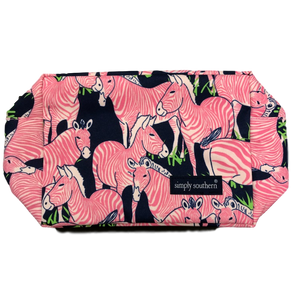 Simply Southern Pink Zebra Cosmo Bag