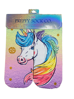 Simply Southern Rainbow Unicorn Preppy Socks