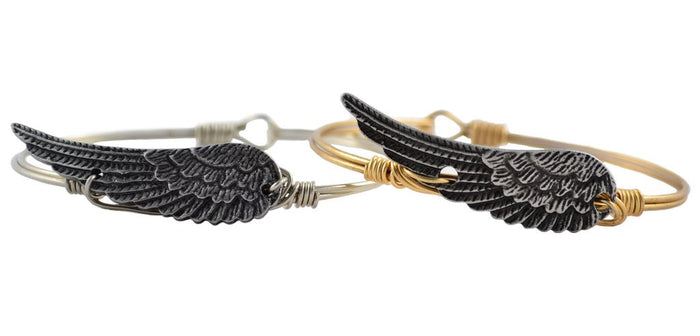 Luck + Protection Bangle, Angel Wing - Luca + Danni