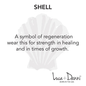 Shell Bangle Luca + Danni meaning card