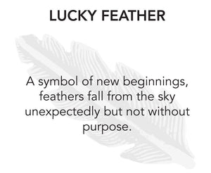 Luck + Protection Bangle, Lucky Feather - Luca + Danni