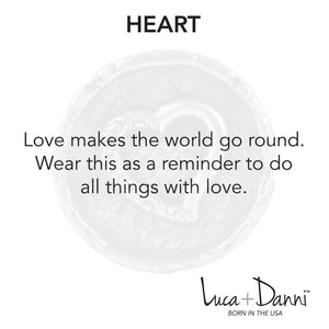Heart Bangle Luca + Danni meaning card