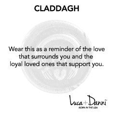 Claddagh Bangle Luca + Danni meaning card
