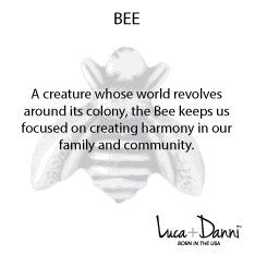 Bee Bangle Luca + Danni meaning card