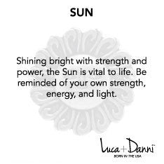 Sun Bangle Luca + Danni meaning card