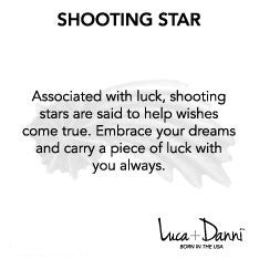 Shooting Star Bangle Luca + Danni meaning card
