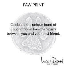 Paw Print Luca + Danni meaning card