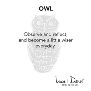 Owl Bangle Luca + Danni meaning card