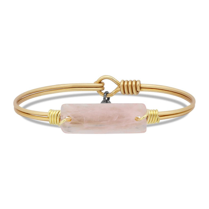 Soul Food Hudson Bangle, Rose Quartz - Luca + Danni