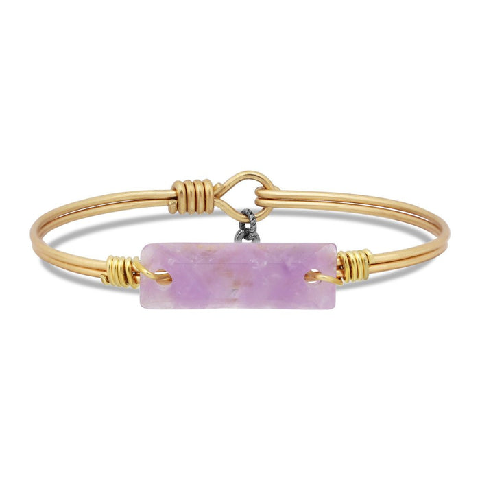 Soul Food Hudson Bangle, Dogtooth Amethyst - Luca + Danni