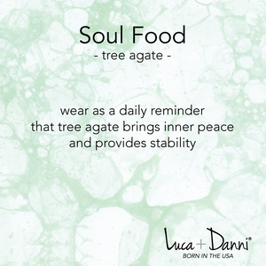 tree agate soul food hudson Luca + Danni meaning card