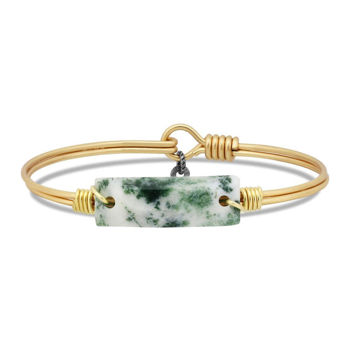 Soul Food Hudson Bangle, Tree Agate - Luca + Danni
