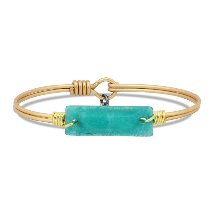 Soul Food Hudson Bangle, Amazonite - Luca + Danni