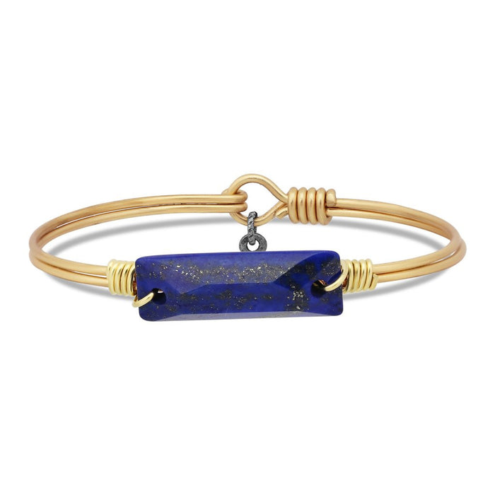Soul Food Hudson Bangle, Lapis Blue - Luca + Danni