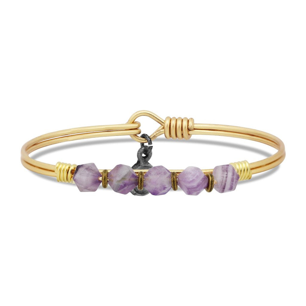 Dogtooth Amethyst Soul Food beaded Brass, Luca + Danni