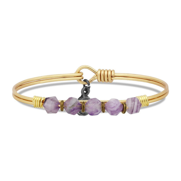Soul Food Beaded Bangle, Amethyst - Luca + Danni