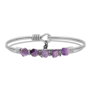 Dogtooth Amethyst Soul Food beaded silver, Luca + Danni