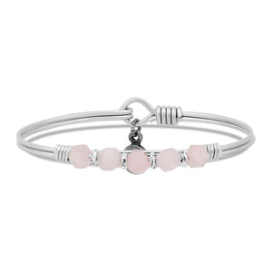 Rose Quartz Soul Food beaded Silver, Luca + Danni