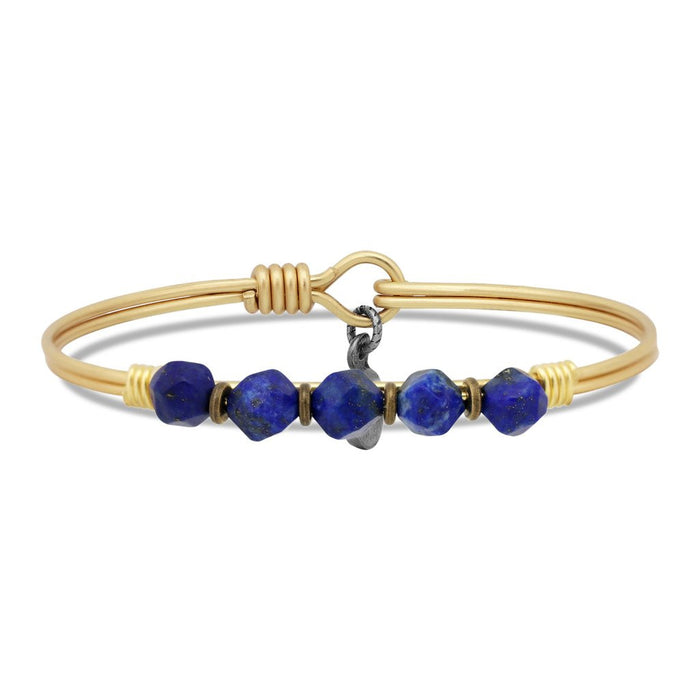 Soul Food Beaded Bangle, Lapis Blue - Luca + Danni