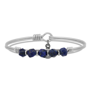 Lapis Soul Food beaded Silver, Luca + Danni