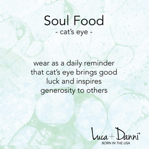 Green Cat's Eye Bangle meaning card Luca + Danni
