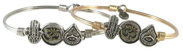 Trilogy Bangle, Hamsa, Ohm, Evil Eye - Luca + Danni