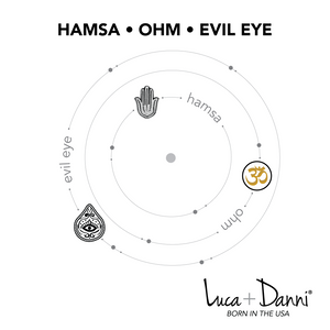 Hamsa Trilogy Bangle Luca + Danni meaning card