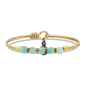 Amazonite Soul Food beaded Brass, Luca + Danni
