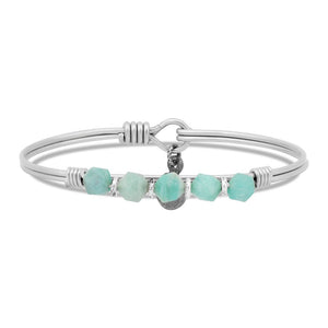 Amazonite Soul Food Beaded Silver, Luca + Danni