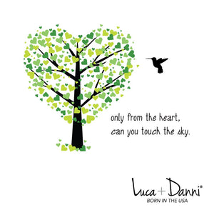 Hummingbird Bangle Luca + Danni meaning card