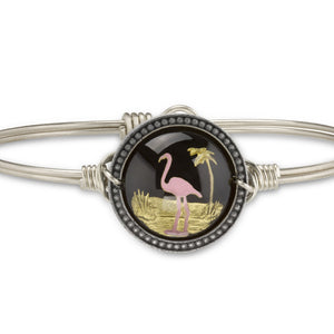 Flamingo Intaglio Bangle, Luca + Danni